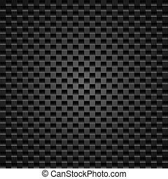 Realistic dark carbon fiber weave background or texture