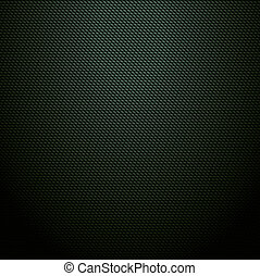 Realistic dark green carbon background, texture. Vector