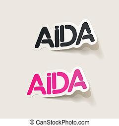 realistic design element: AIDA