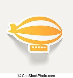 realistic design element: airship