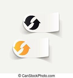 realistic design element: arrow recycling
