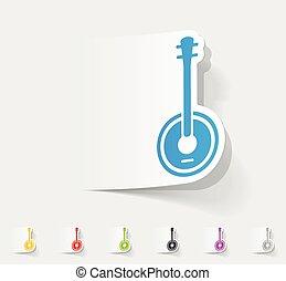 realistic design element. banjo