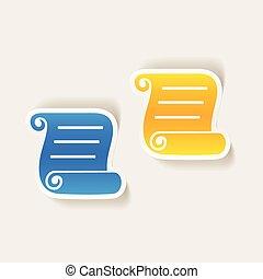 realistic design element: blank paper