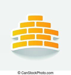 realistic design element: brickwork