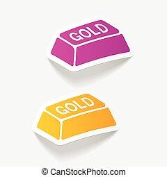 realistic design element. bullion gold