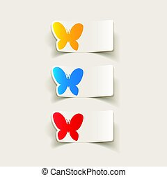 realistic design element: butterfly