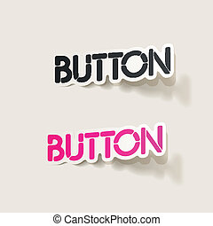 realistic design element: button