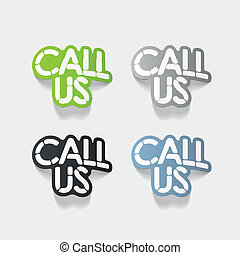 realistic design element: CALL US