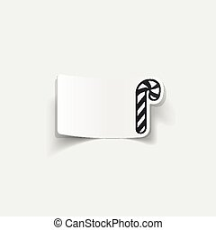 realistic design element: candy cane