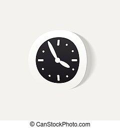 realistic design element: clock