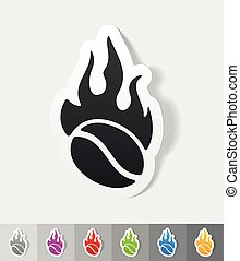coffee roasting paper sticker with shadow. Vector illustration