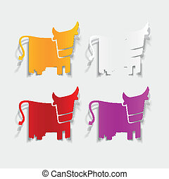realistic design element: cow
