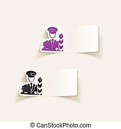 realistic design element. customs inspector