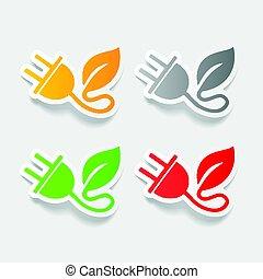 realistic design element: eco plug leaf