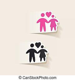 realistic design element: family