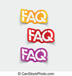 realistic design element: FAQ