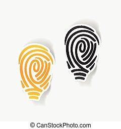realistic design element: fingerprint