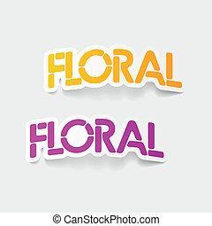 realistic design element: floral