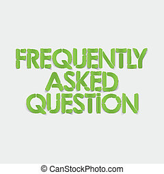 realistic design element: frequently asked question