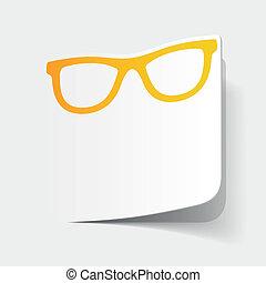 realistic design element: glasses