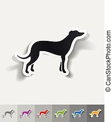 realistic design element. greyhound