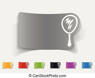 realistic design element. hand mirror
