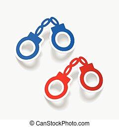 realistic design element: handcuffs