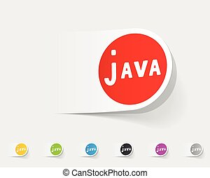realistic design element. java