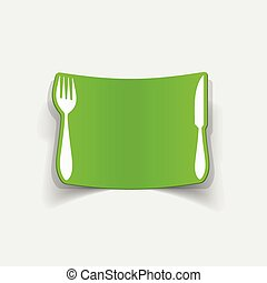 realistic design element: knife, fork