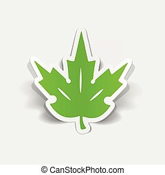 realistic design element: leaf