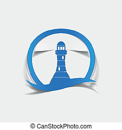 realistic design element: lighthouse. Vector Illustration