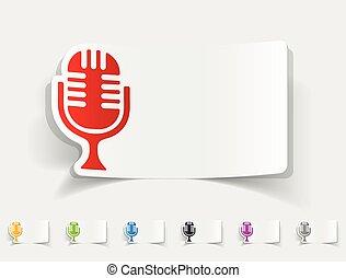 realistic design element. microphone