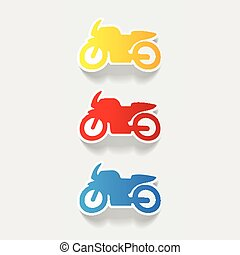 realistic design element: motorcycle
