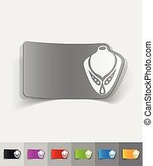 realistic design element. necklace on a mannequin