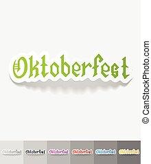 realistic design element. Oktoberfest