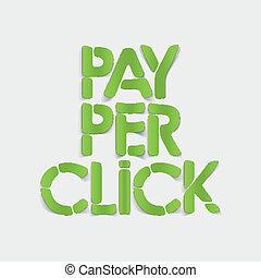 realistic design element: pay per click