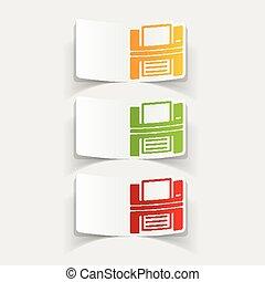 realistic design element: printer