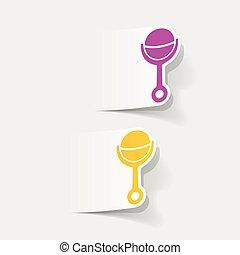 realistic design element: rattle