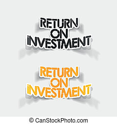 realistic design element: Return On Investment