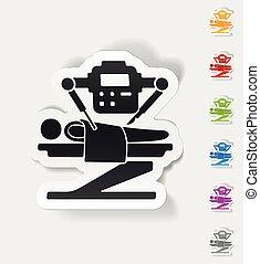realistic design element. robot surgeon