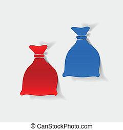 realistic design element: sack