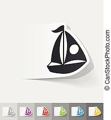realistic design element. sailing boats