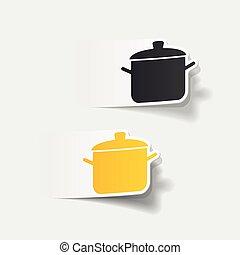 realistic design element: saucepan