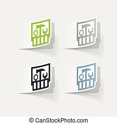 realistic design element: set of tools