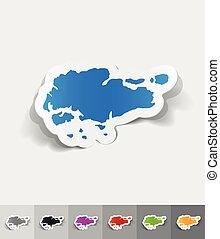 realistic design element. singapore map - singapore map...