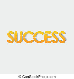 realistic design element: success