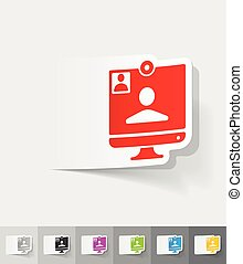 realistic design element. video call