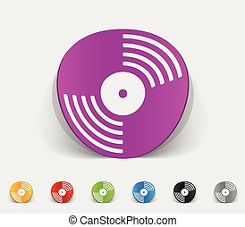 realistic design element. vinyl record