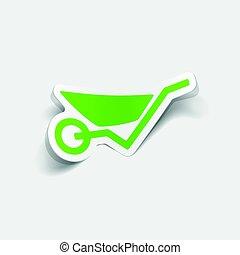 realistic design element: wheelbarrow