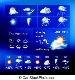 Realistic design for a mobile weather forecast application -...